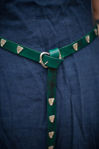 Green belt worn